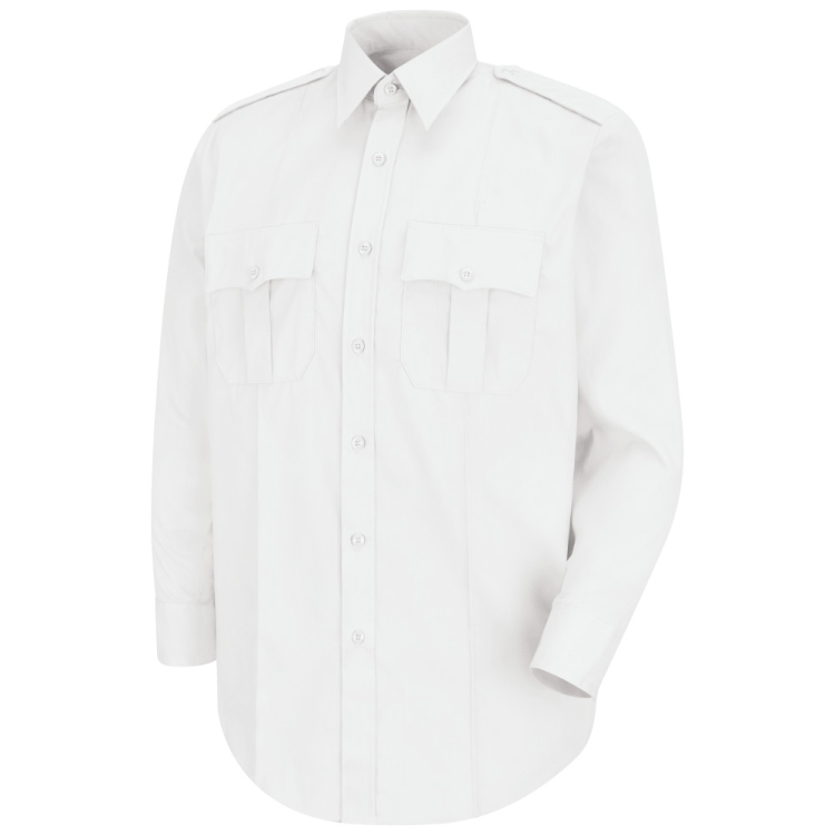 White L/S Poly/Cotton Shirt - CAPT