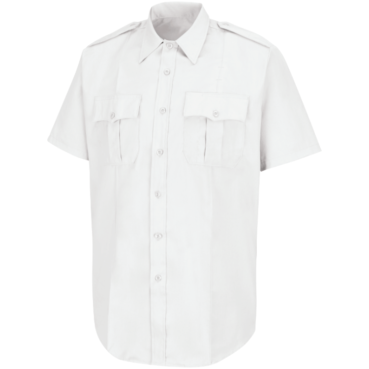White S/S Poly/Cotton Shirt - EMS COOR