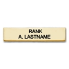 Brushed Metal Nameplate - CHIEF